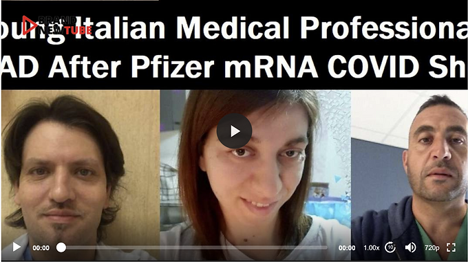 4 Young And Healthy Italian Healthcare Workers Dead After Pfizer Jab