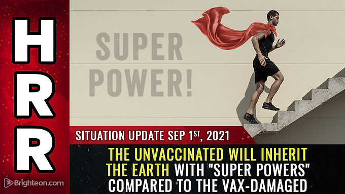 """The world will soon be divided between the DAMAGED vaccinated and the undamaged, """"super powered"""" unv"""
