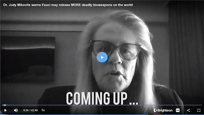 Dr. Judy Mikovits warns Fauci may release more deadly bioweapons on the world