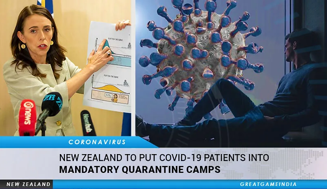 """MANDATORY """"quarantine camps"""" were just rolled out in New Zealand, a globalist testing ground for the"""