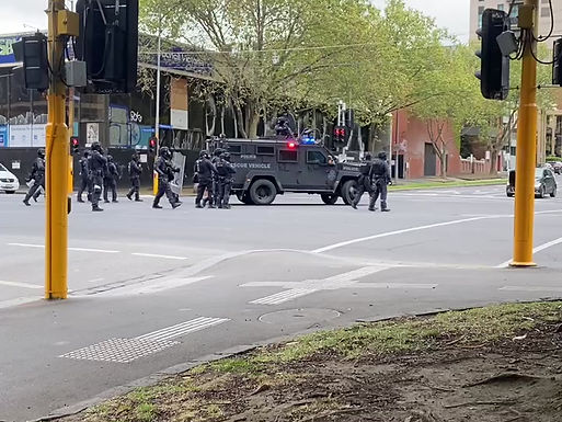 Stand Off on the Streets of Melbourne