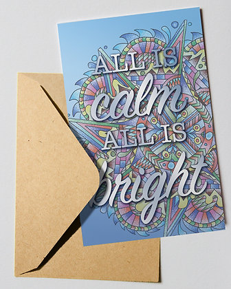 Holiday Card: Calm and Bright