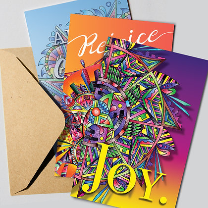 Greeting Cards Bright Mixed Trio