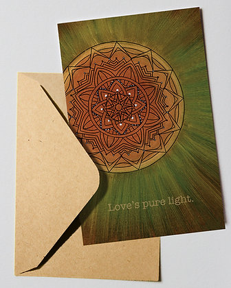 Holiday Card: Love's pure light.