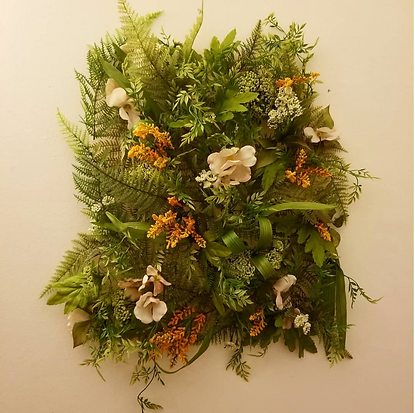 Living Wall (made of fake flora)