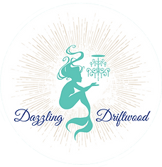 Dazzling Driftwood mermaid logo