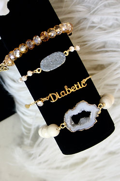Leauxmed Diabetic Bracelet - Gold