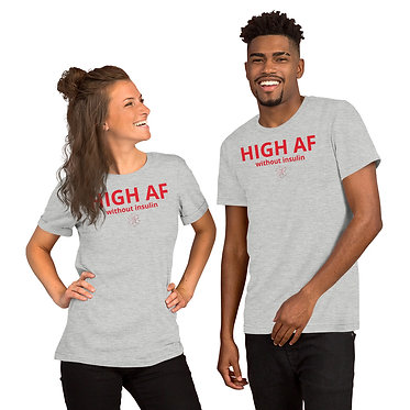 HIGH AF Gray Leauxmed Boutique Tee @TheDivabetic The Divabetic