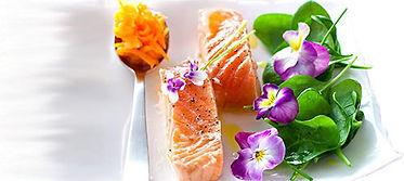 Saumon en fleurs