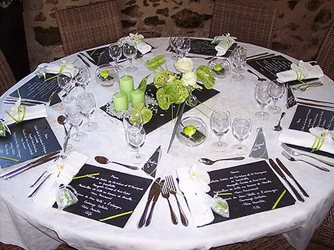 Table dressée banquet