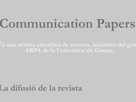Difusión de Communication Papers.