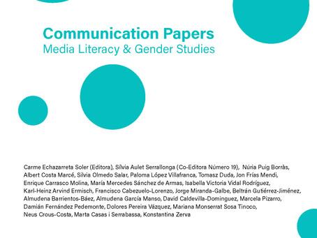 Comunicación y Turismo. Número 19. Communication Papers.