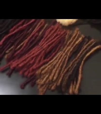 Human Kinky Hair custom colored locs