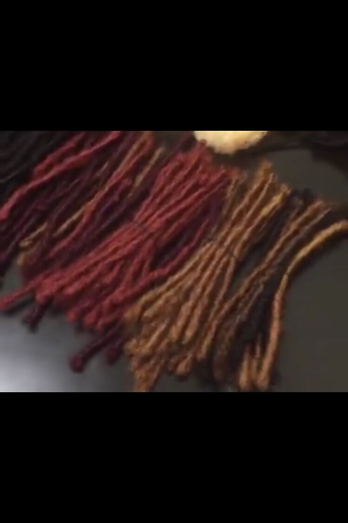 Human Kinky Hair custom colored locs