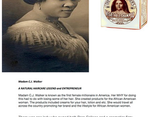 Madam C.J. Walker  A NATURAL HAIRCARE LEGEND and ENTREPRENEUR