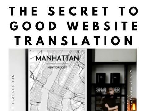The Secret to Good Website Translation e-book