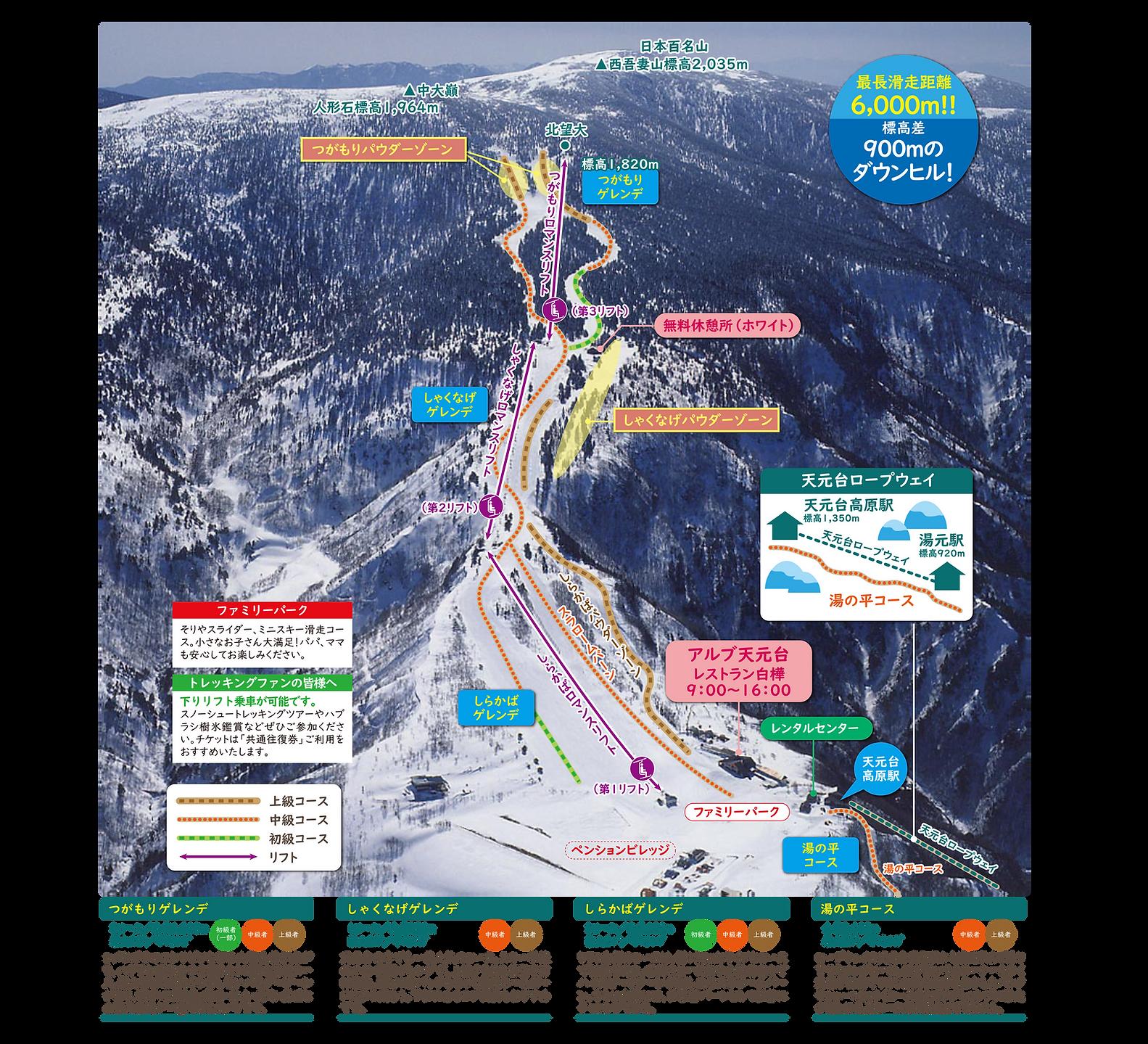 天元台スキー場コース