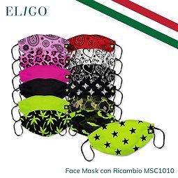 Face Mask   Mascherina + 5 teli di ricambio