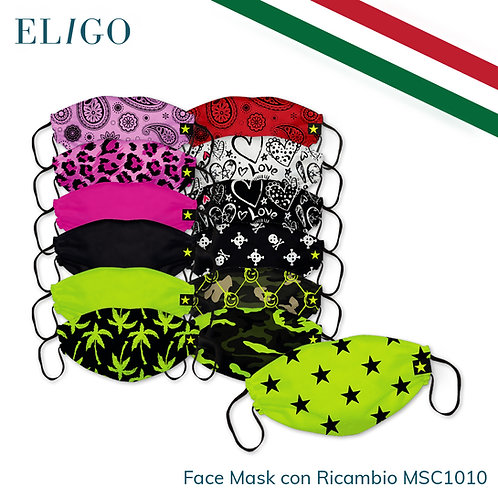 Face Mask (Mascherina lavabile + 5 filtri)