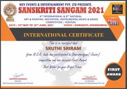 Sruthi Sriram_Sanskriti Sangam 2021