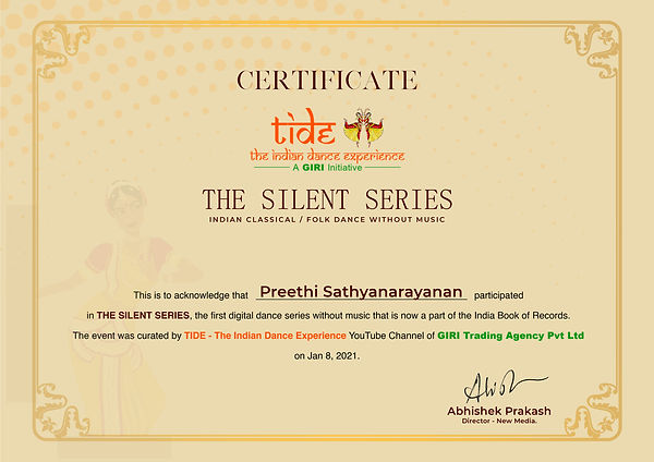 Preethi Sathyanarayanan-Silent Series Ce