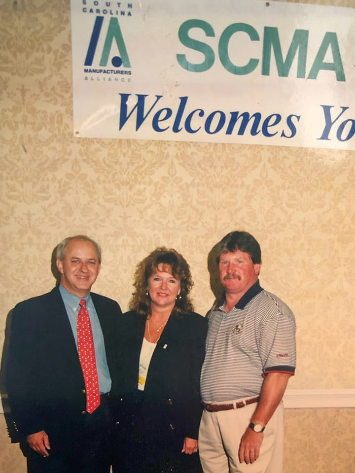 Then S.C.-Gov. James Hodges with Harry and Gloria Freeman at an SCMA Annual Meeting.