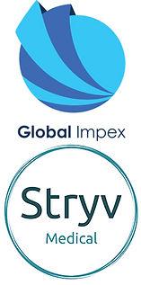 Global_Impex_Stryv_Medical_logos_stacked