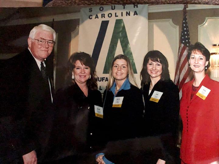 SCMA staffers (L-R) Dr. Jim Morris, Gloria Freeman, Jessica Watts, Julia Crosby and Vickie Cannon at an SCMA meeting.