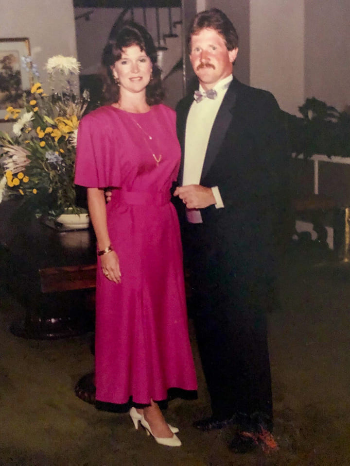 Gloria and Harry Freeman at a meeting at The Cloister in Sea Island, Ga.