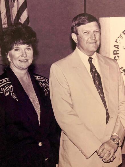 Gloria Freeman and then-SCMA Executive Vice President John Beasley.