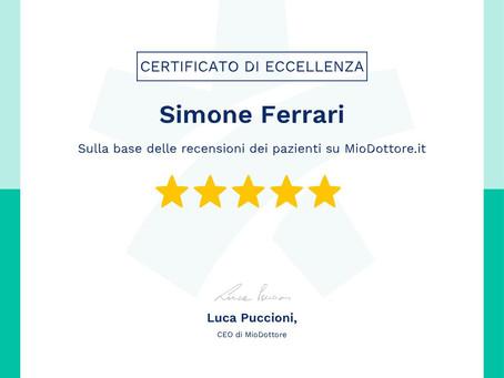 Certificato di Eccellenza MioDottore 2019
