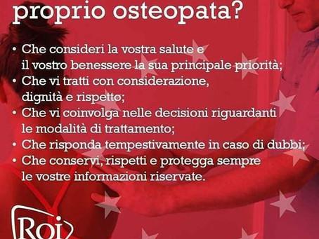 Cosa aspettarsi dal proprio osteopata?