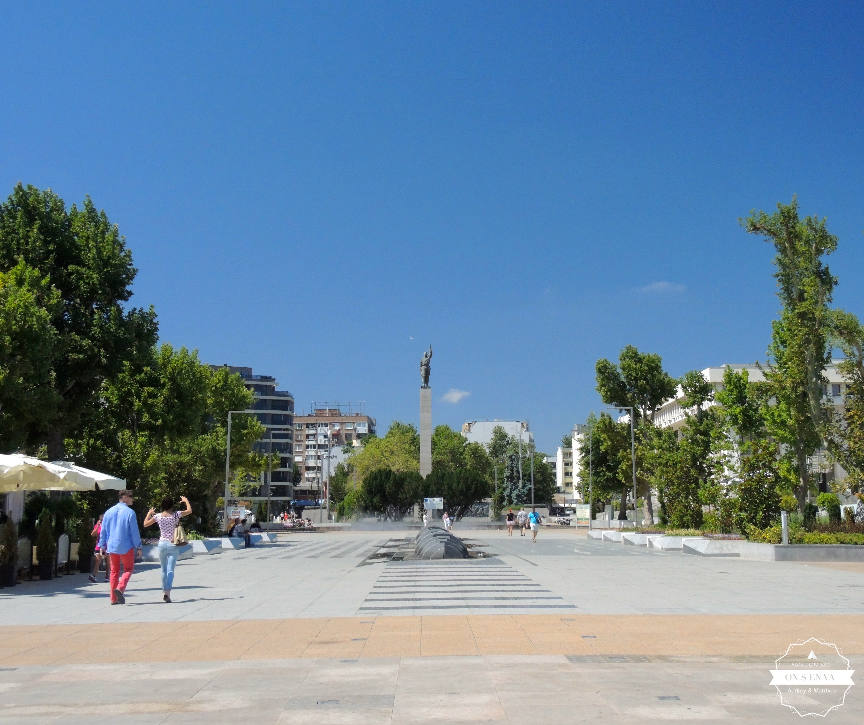La place centrale de Burgas