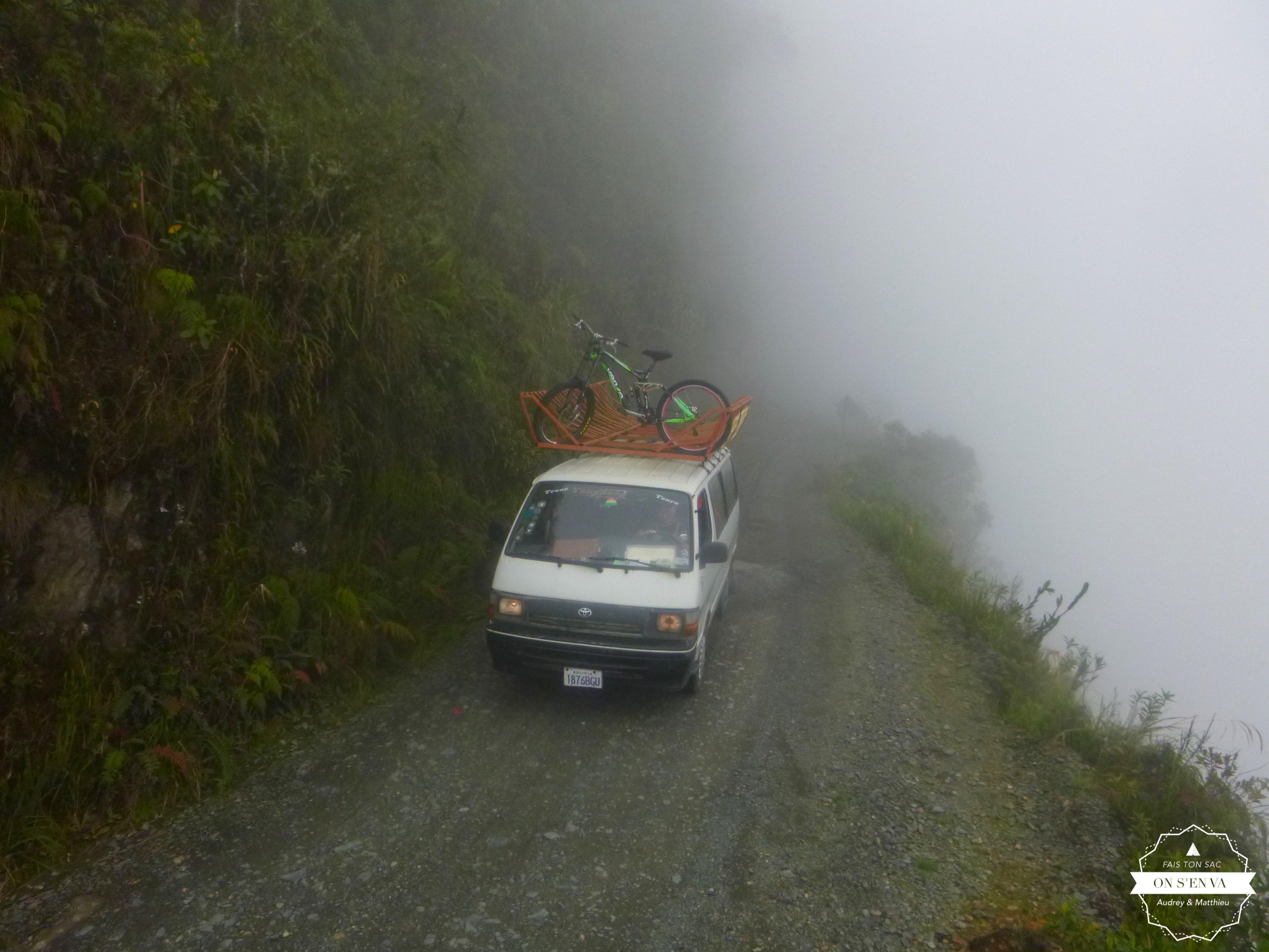Début du parcours dans la brume