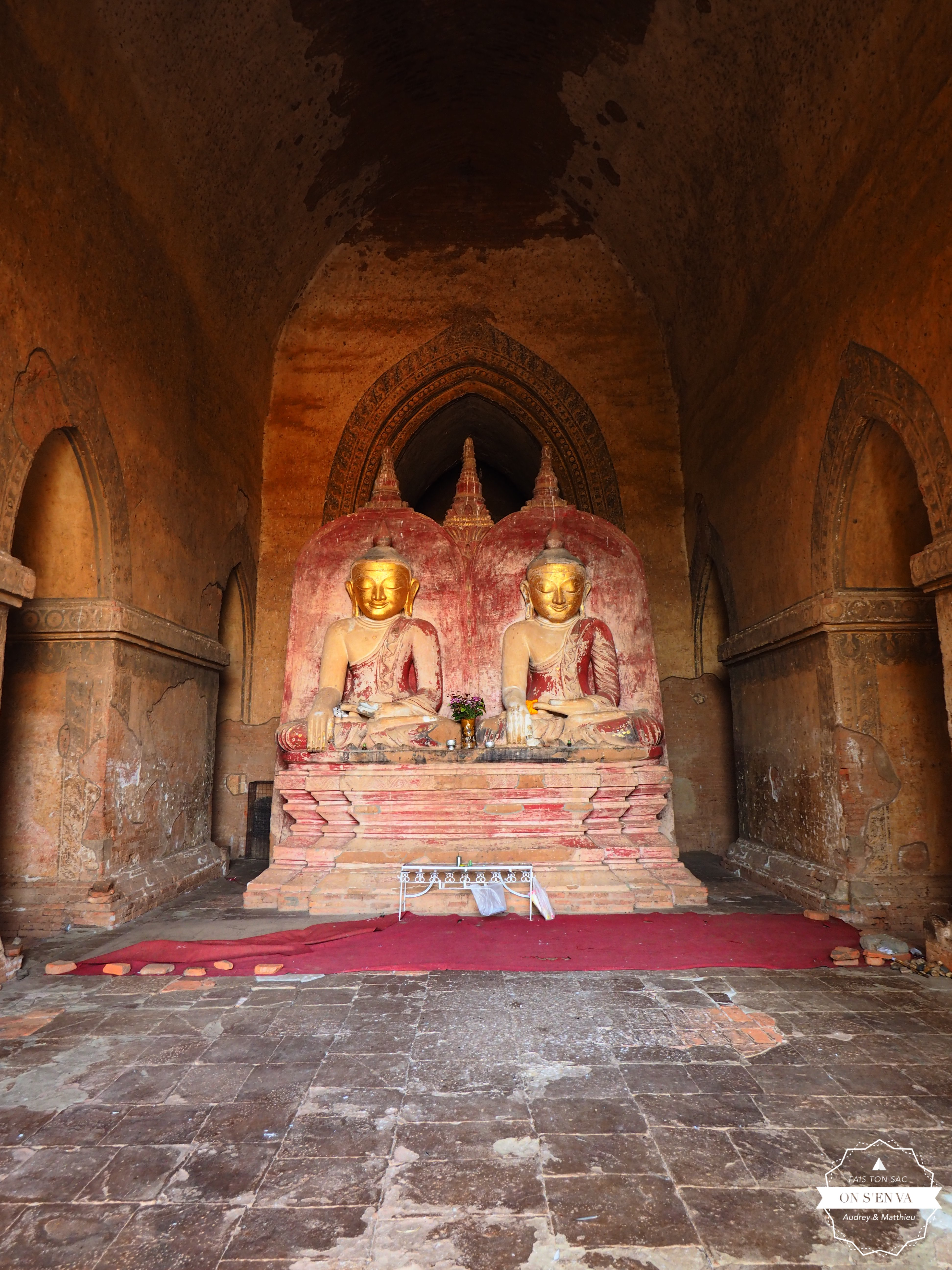 Une rareté, un double Bouddha