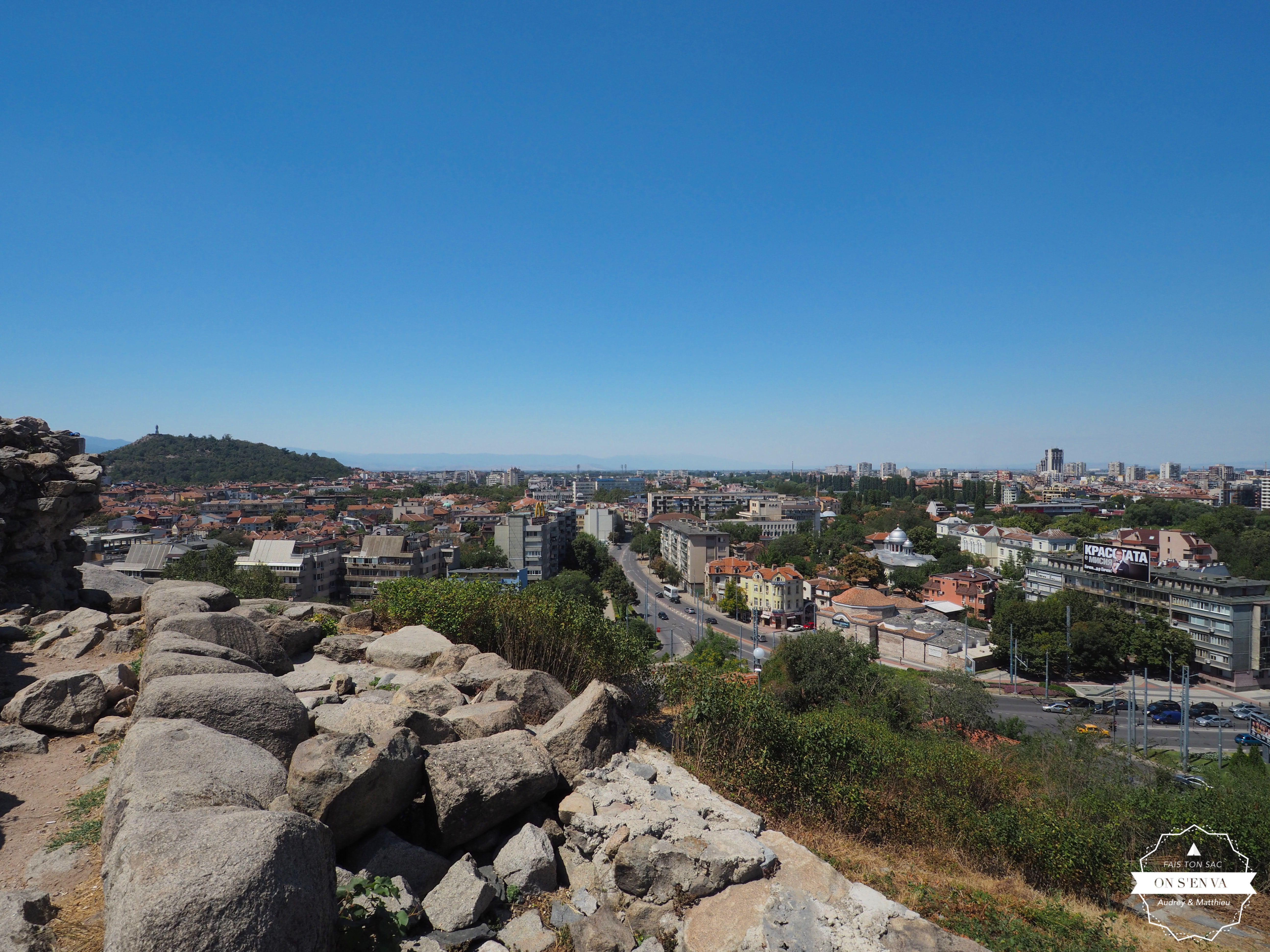 Vue de la ville moderne, Plovdiv