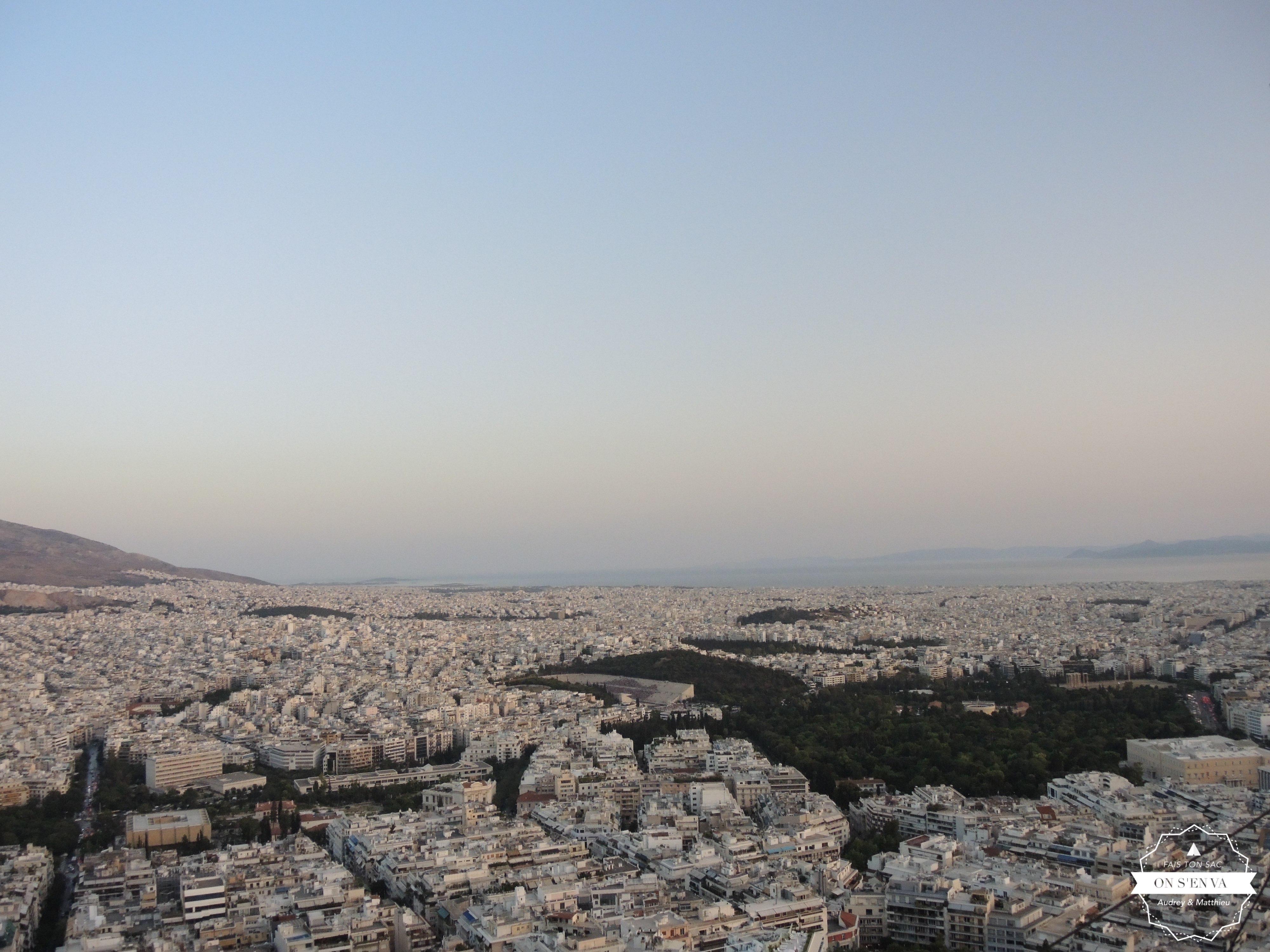 Vue d'Athènes, Mont Lycabette