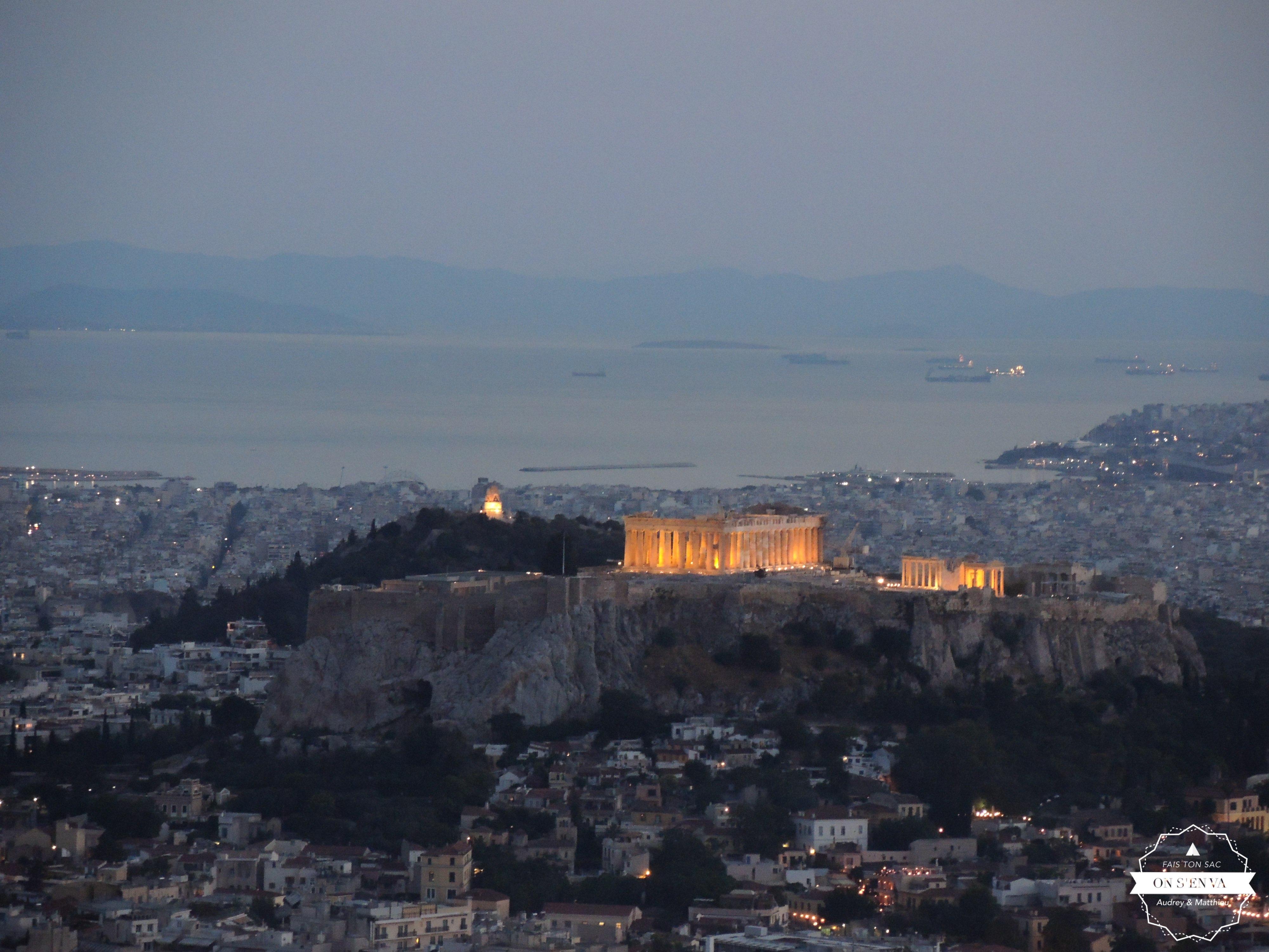 L'Acropole depuis le Mont Lycabette