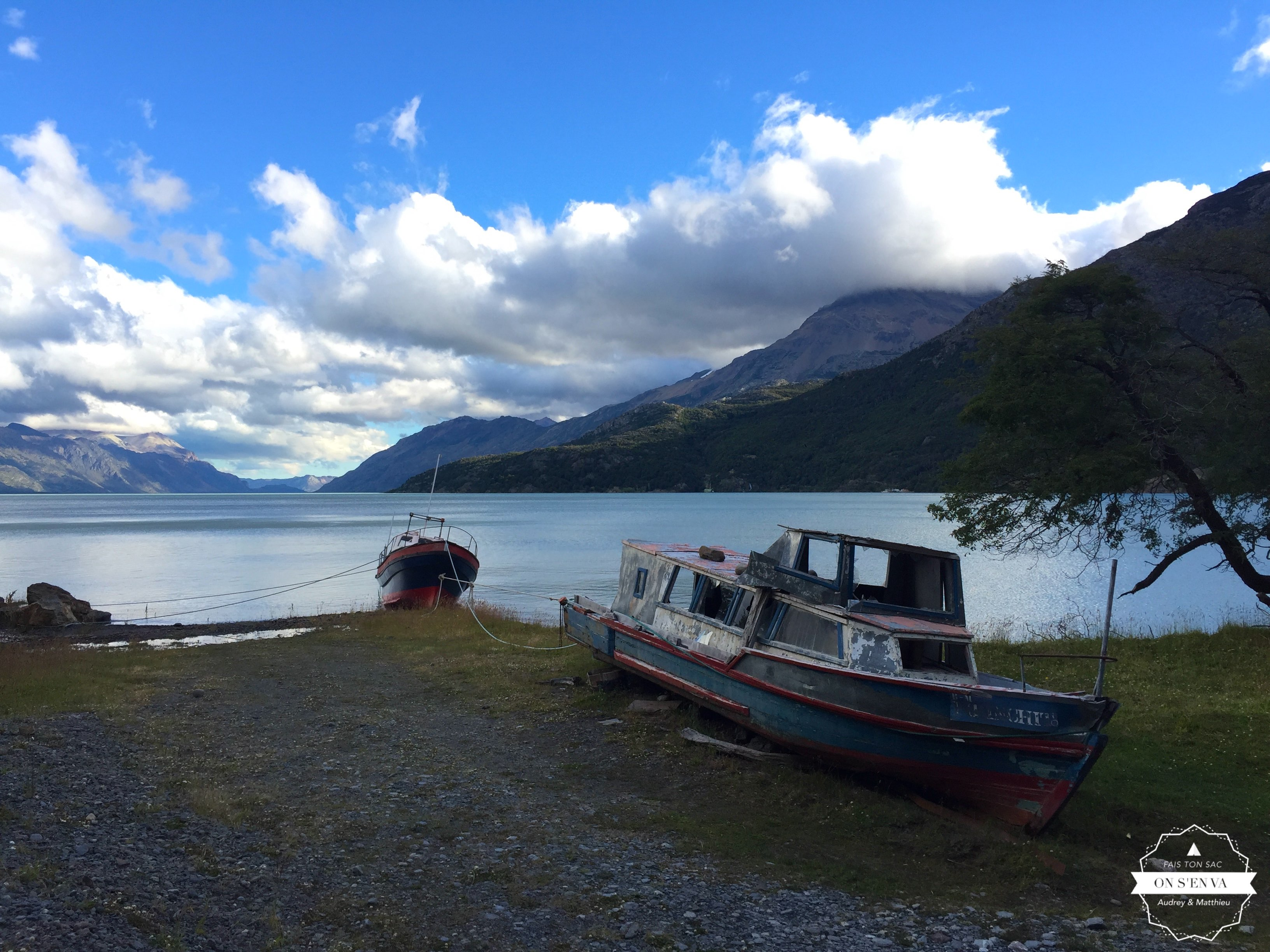 Au bord du Lac O'Higgins