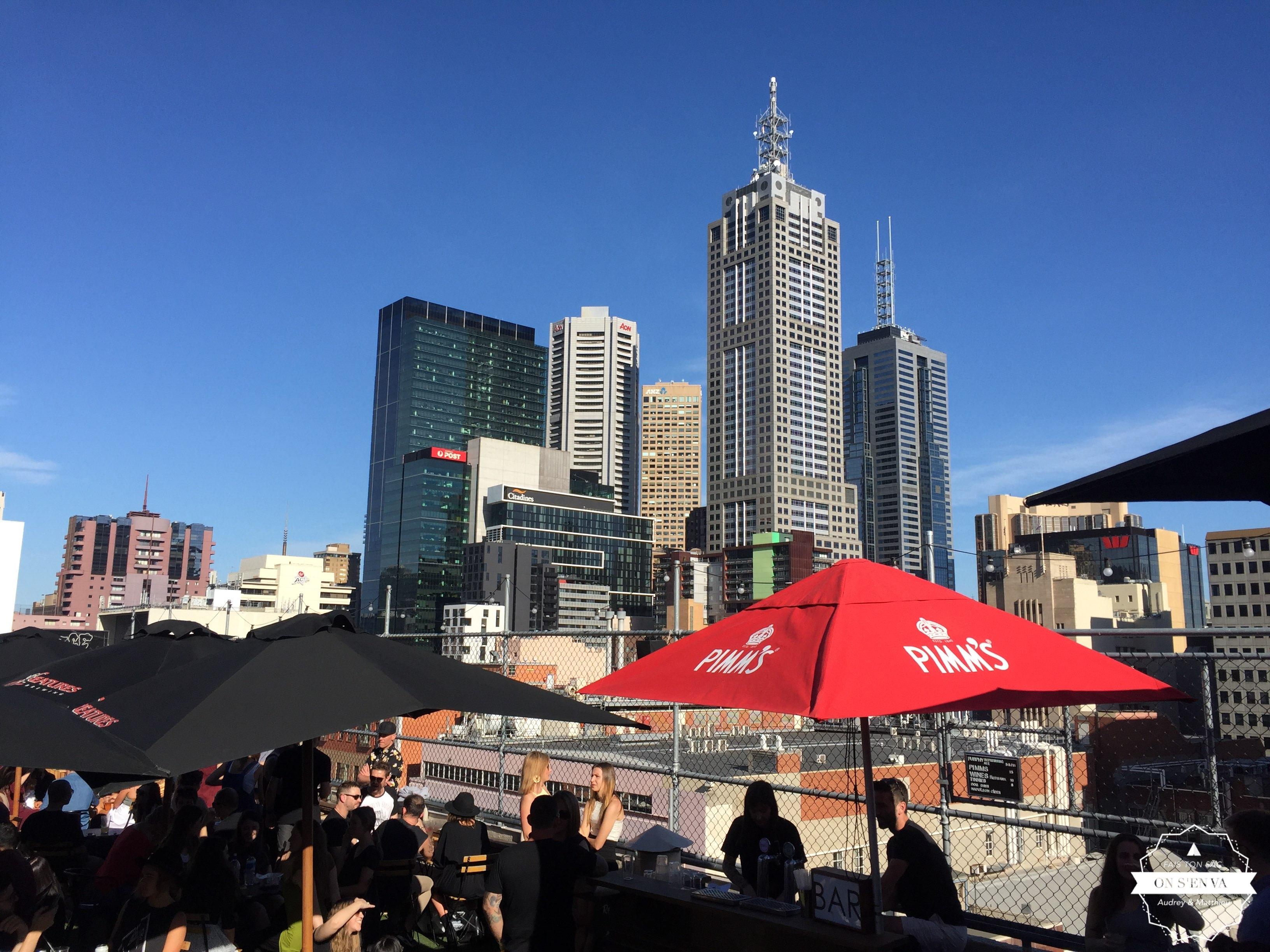 Apéro sur les toits de Melbourne
