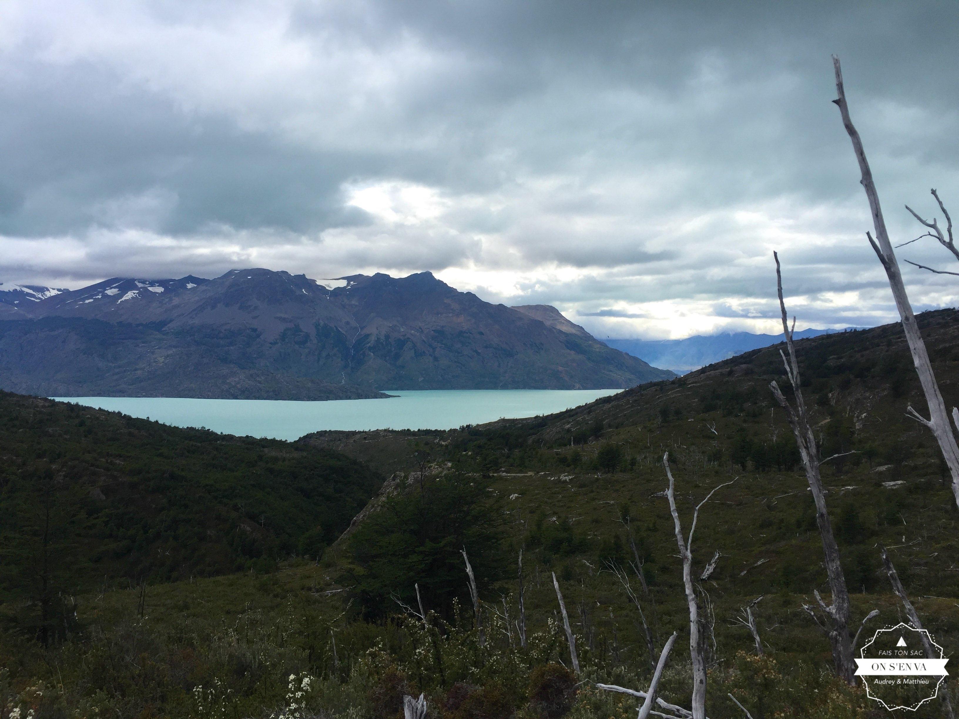 Dernière vue du lac O'Higgins
