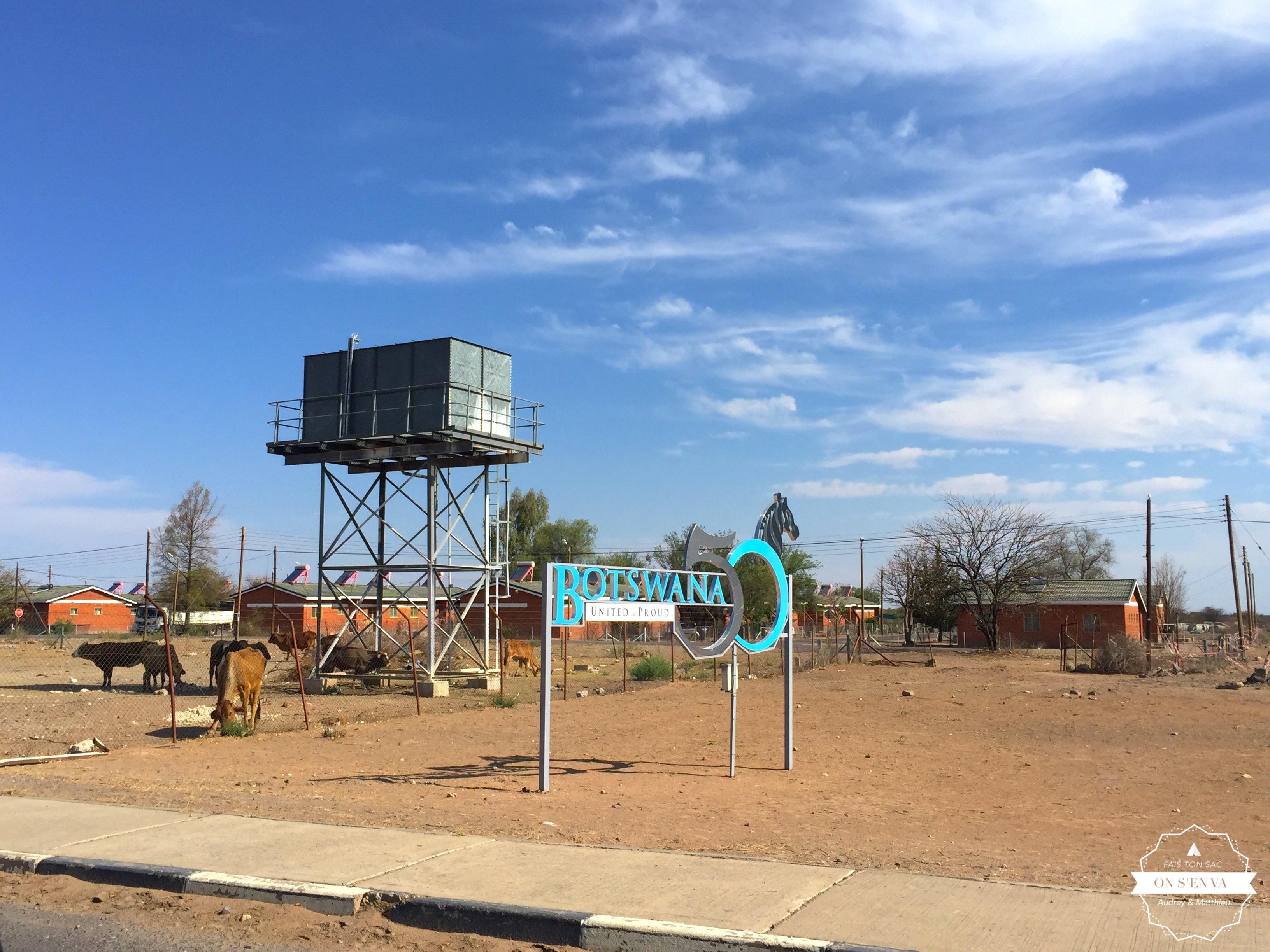 Frontière Namibie - Botswana