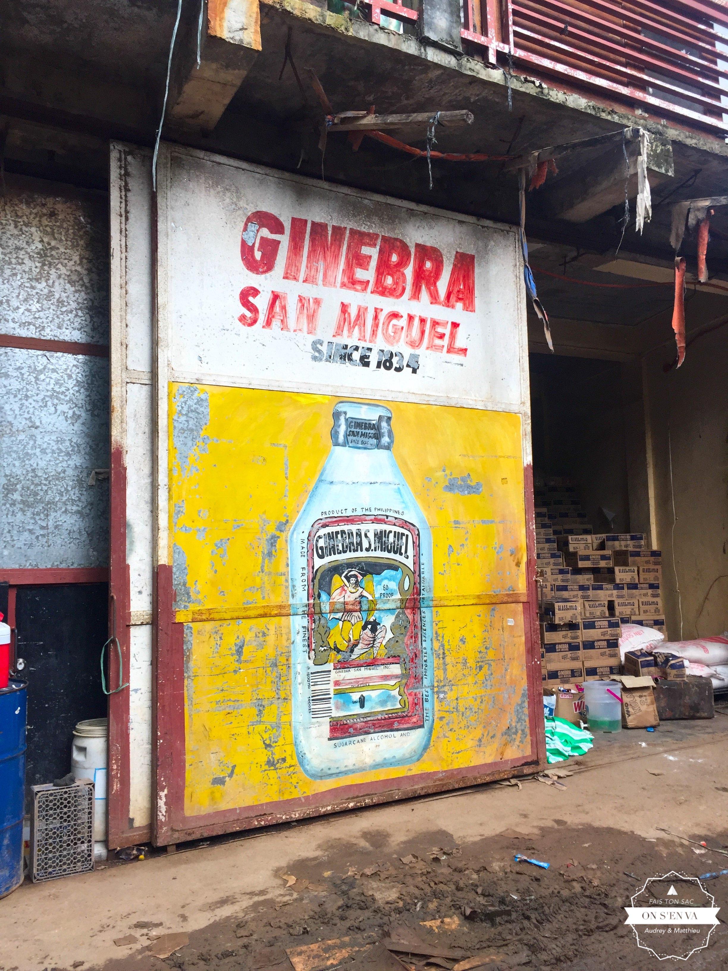 Le Gin, alcool bien apprécié ici