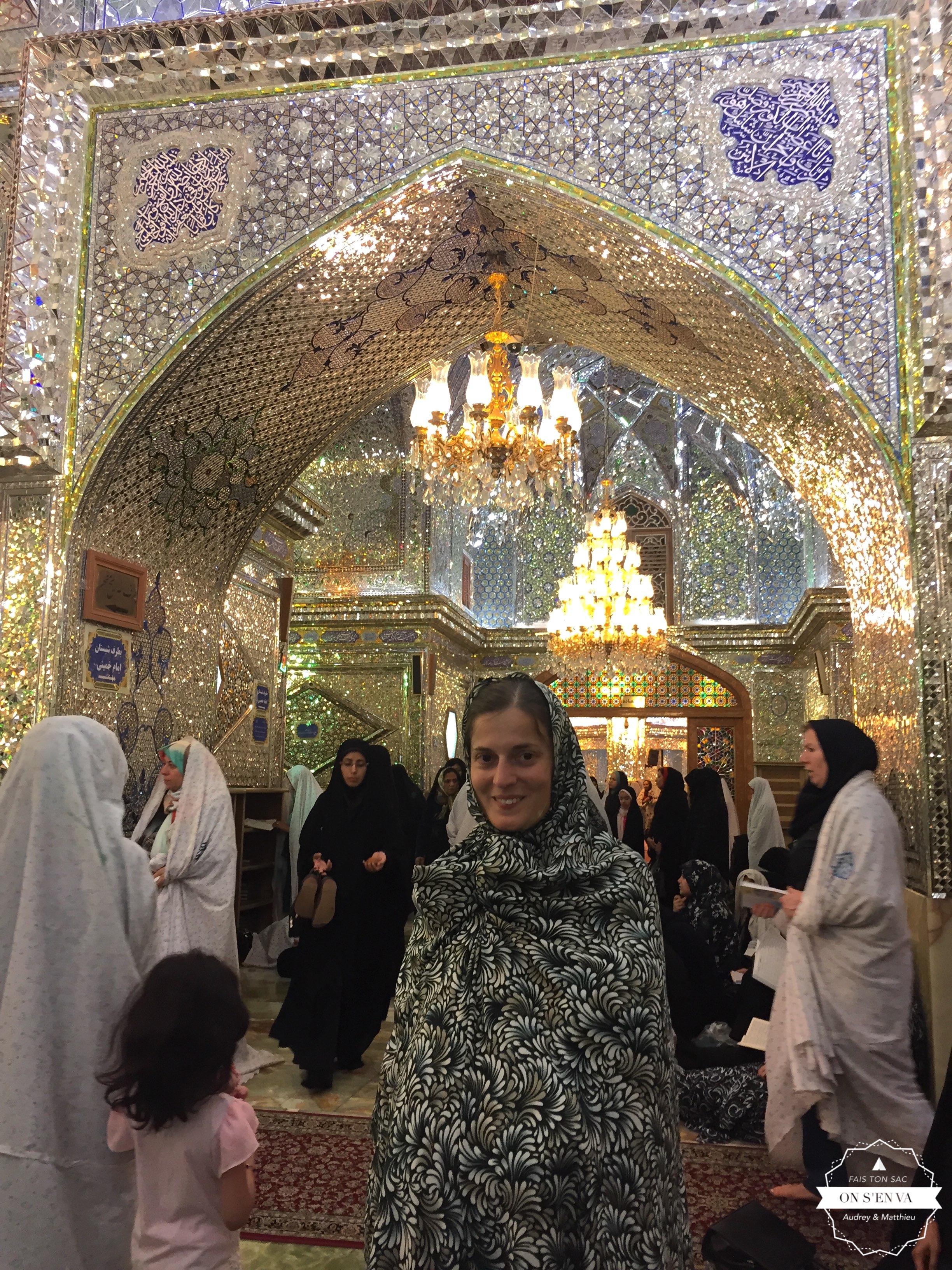 A l'intérieur de la mosquée