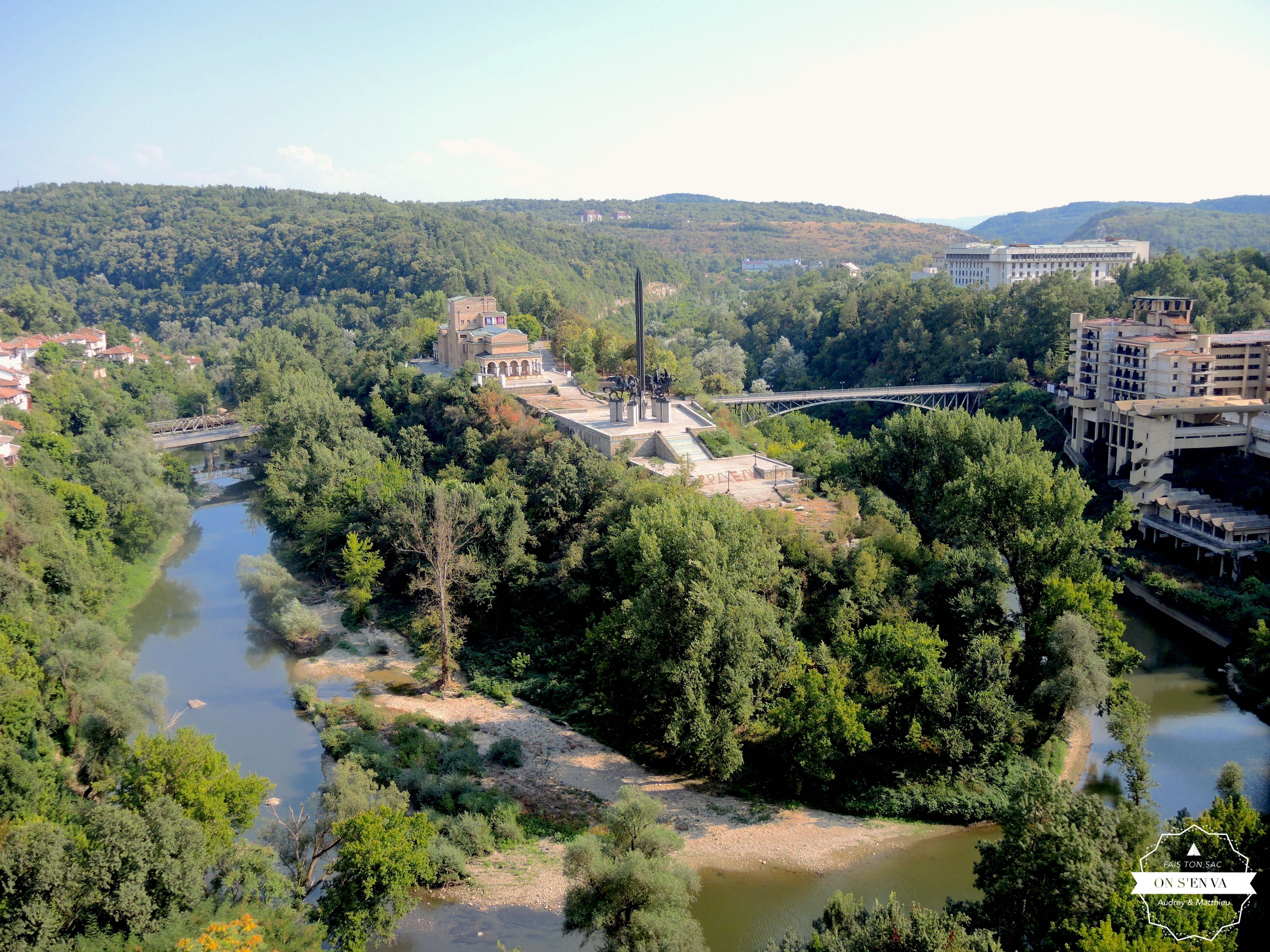 Veliko Tarnovo vue d'en haut