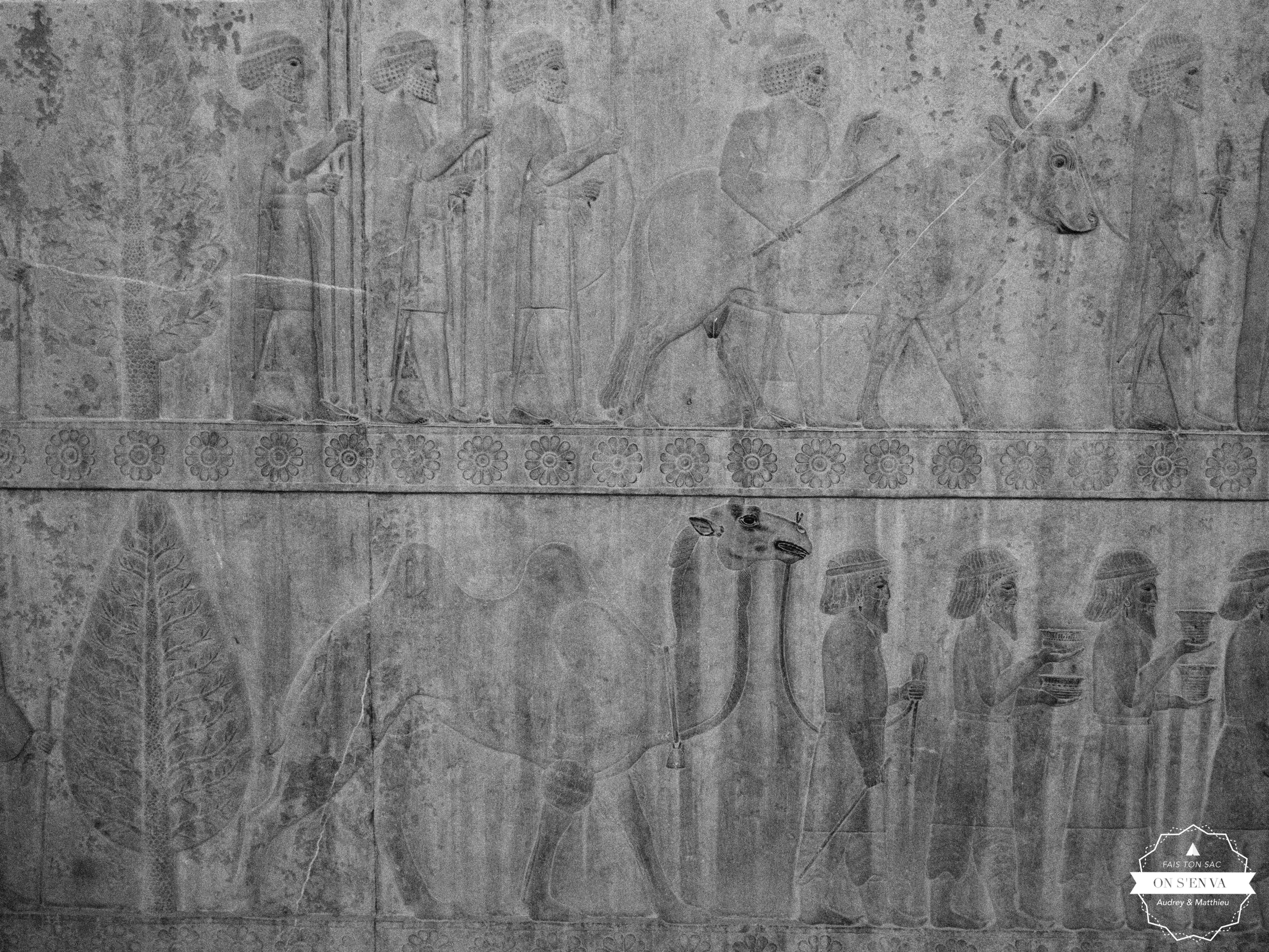 Détail des bas-reliefs