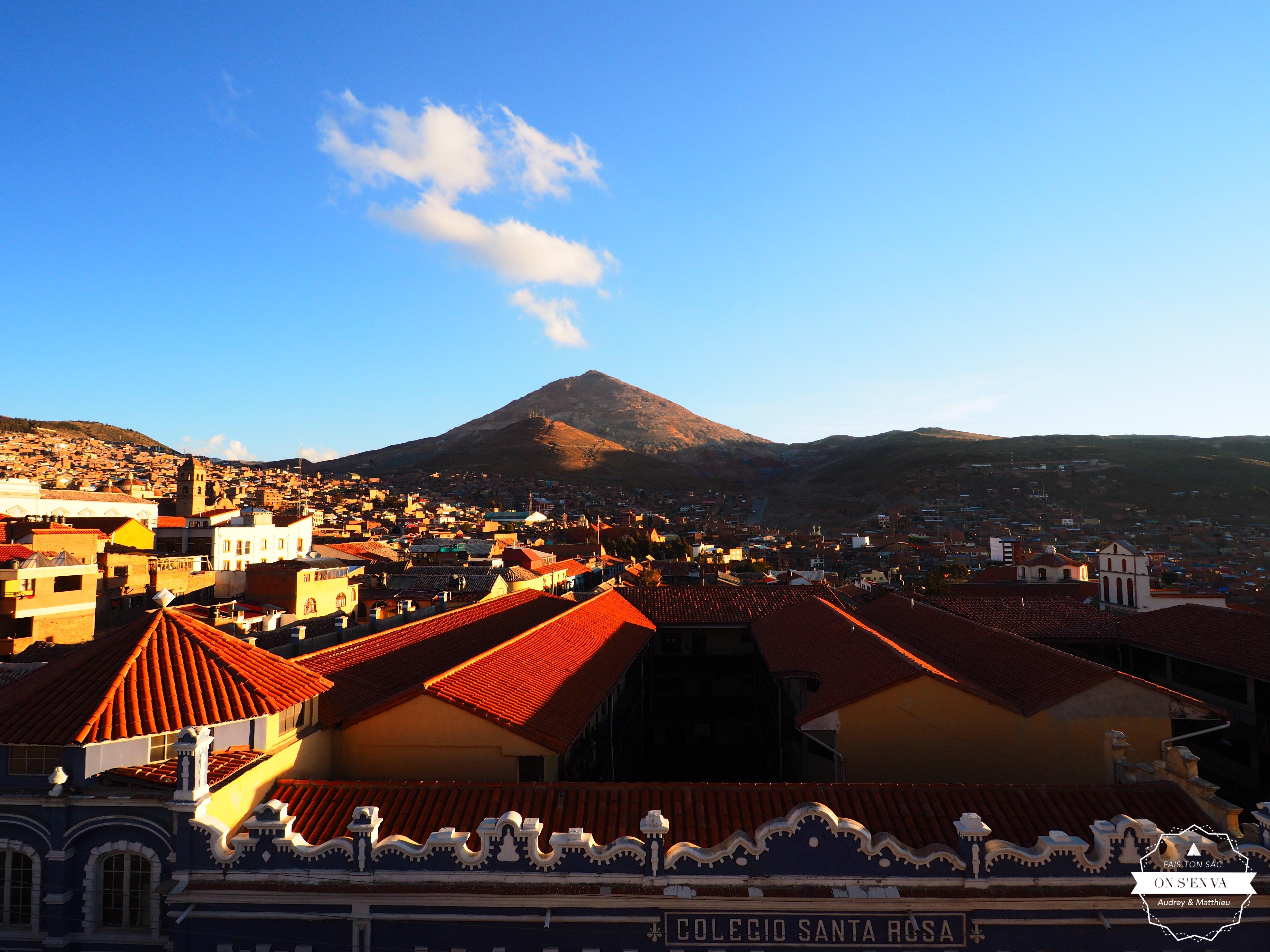 Coucher de soleil sur le Cerro Rico