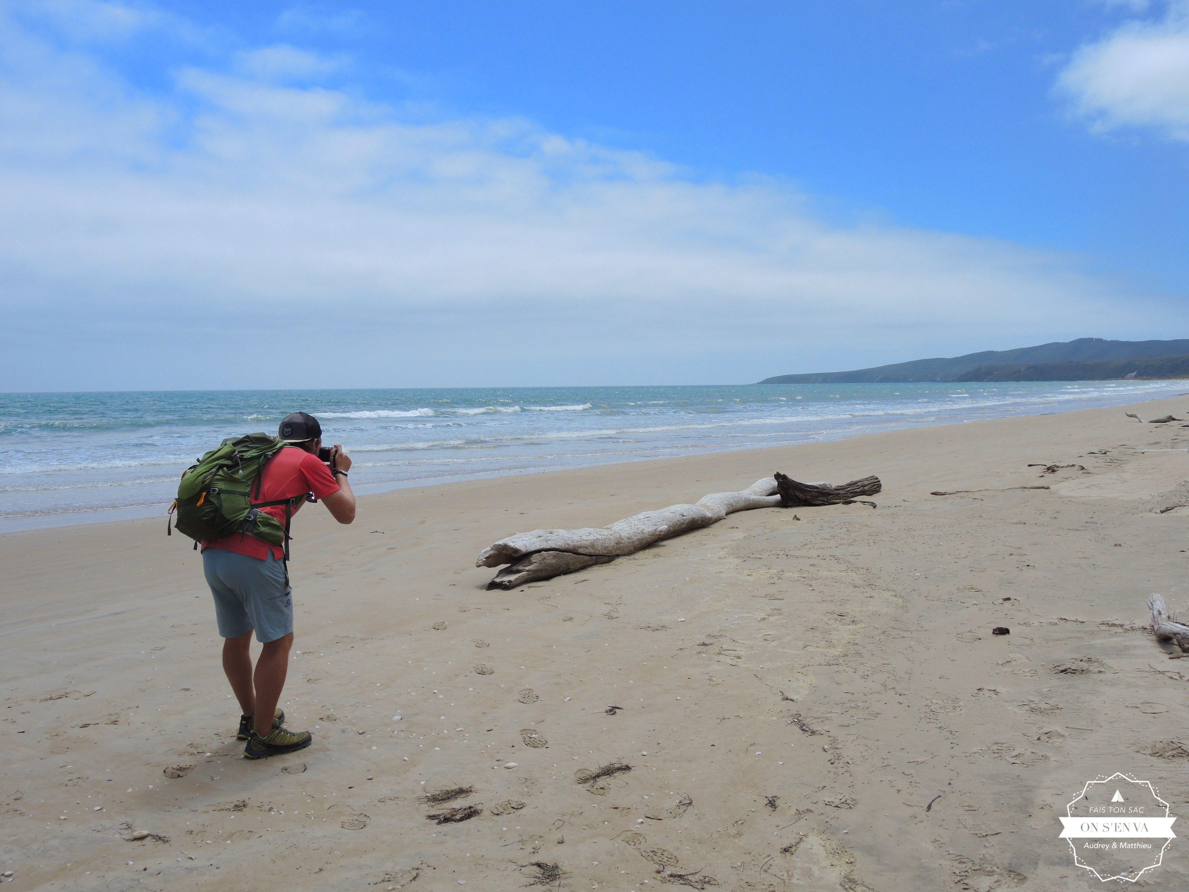 Fin de rando sur la plage