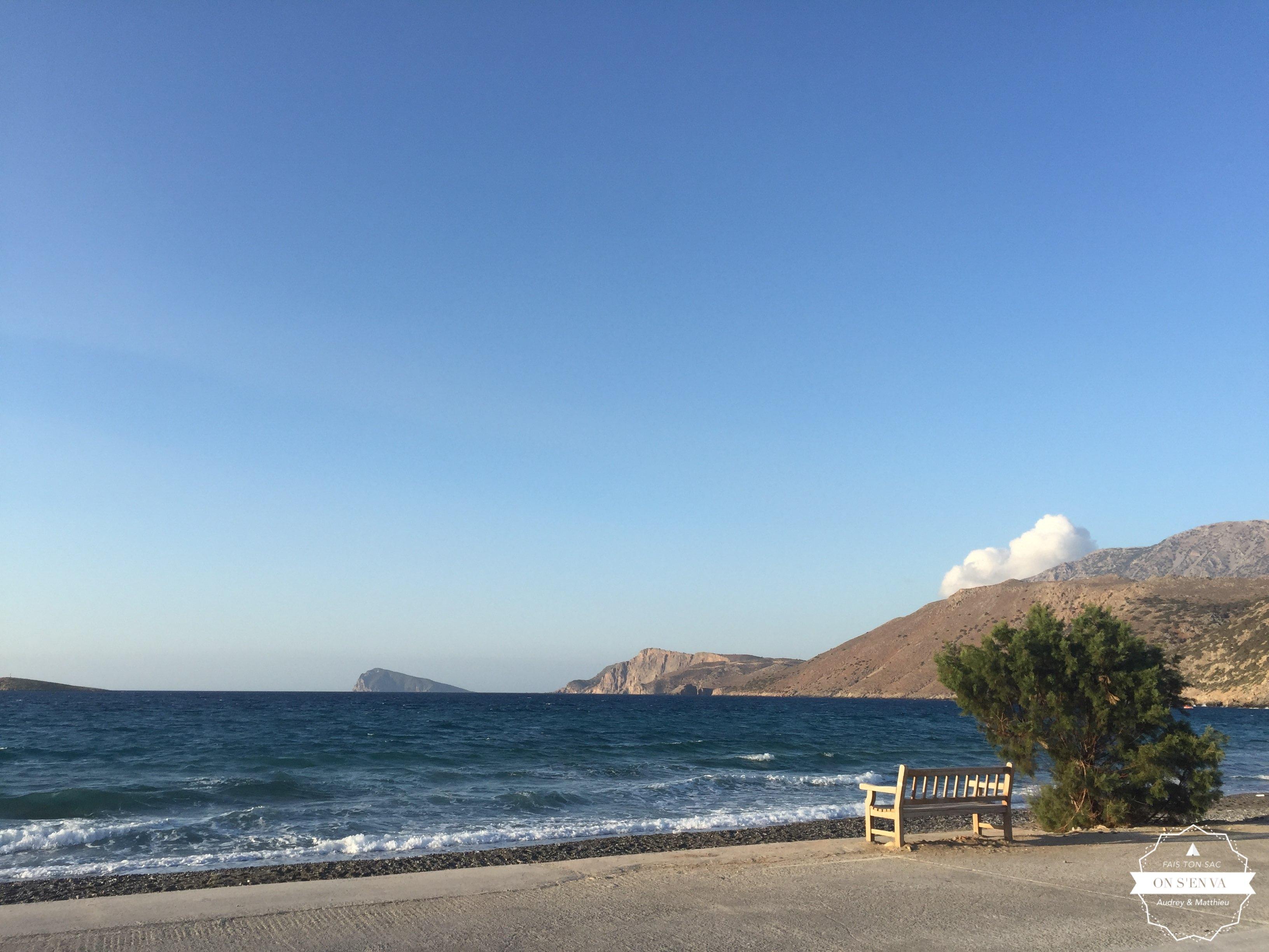 Douche sur la plage, Pacha Ammos
