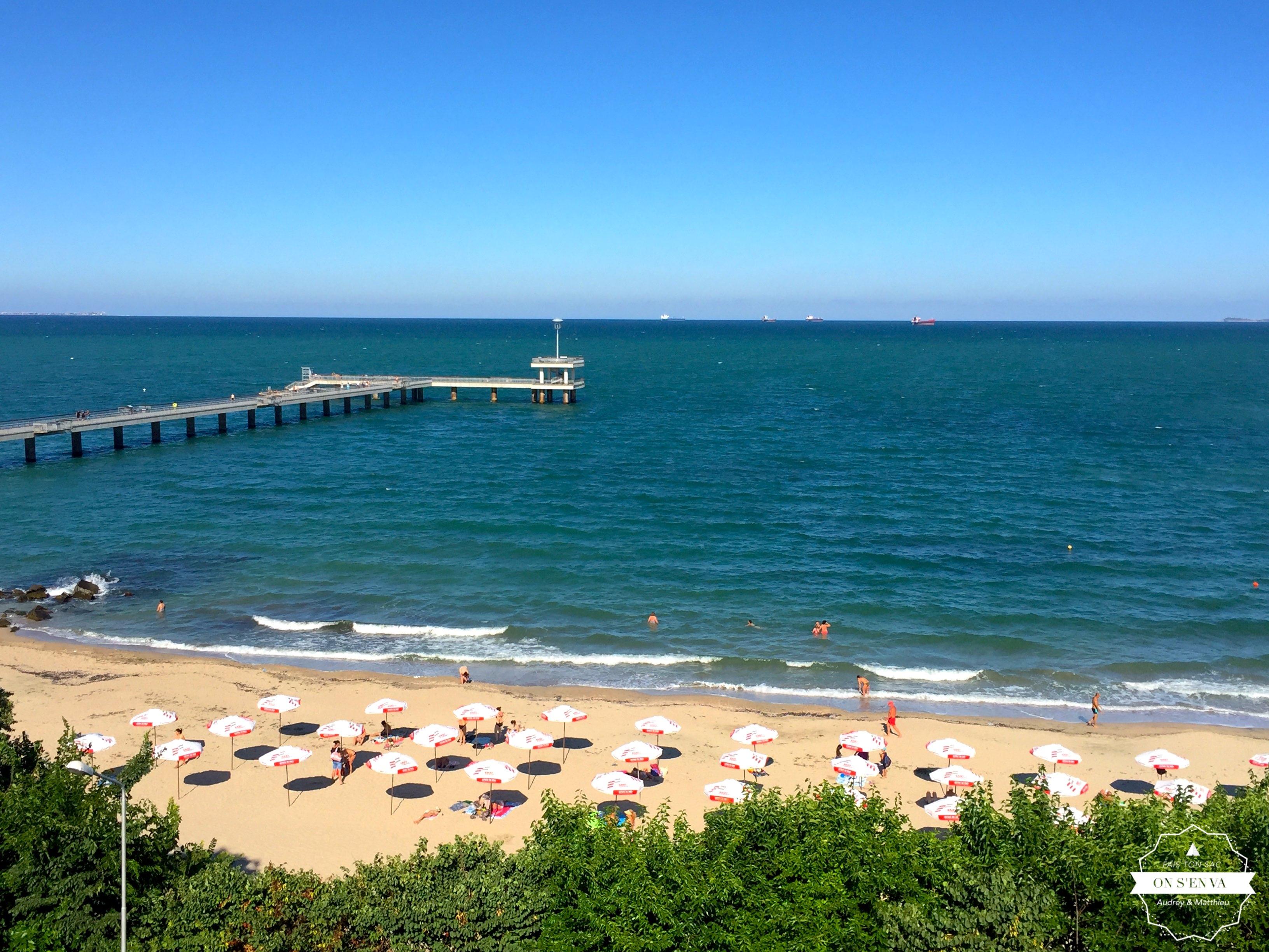 La plage de Burgas